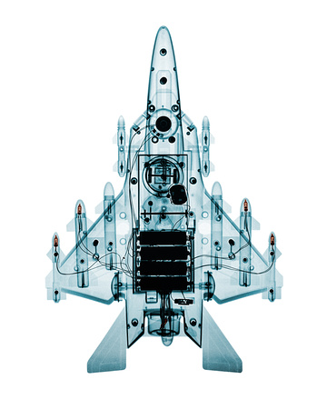 X-ray of Toy Super F-15 Fighter Airplane