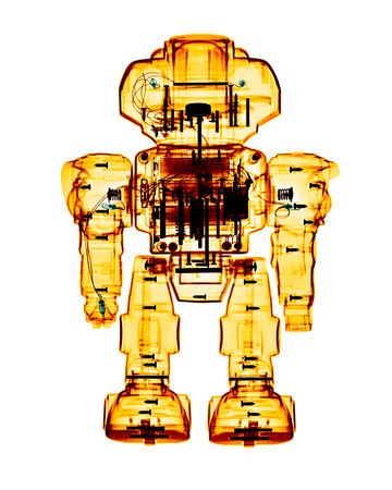 X-ray of a Toy Robot - Android Extraterrestrial