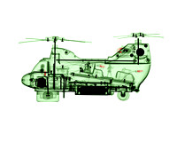 X-ray of a Toy Helicopter - Chinook