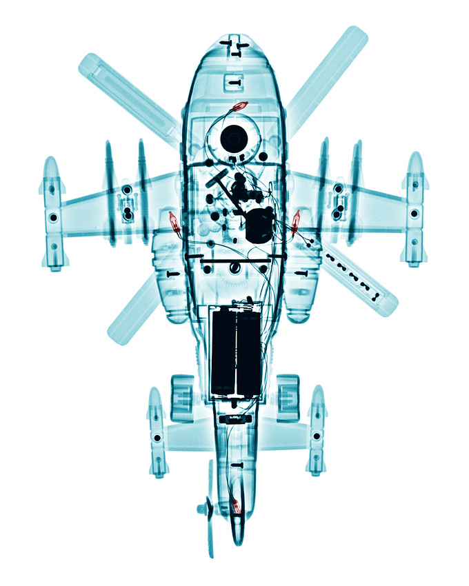 INVISIBLE LIGHT X-ray Art Gallery: TOYS &emdash; X-ray of a Toy Helicopter
