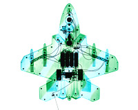 X-ray of Toy F-22 Raptor Airplane